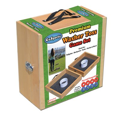 GoSports Premium Solid Wood Washer Toss Game