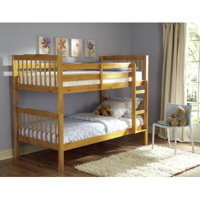 Woodhaven Hill B27 Series Twin over Twin Bunk Bed with Built-In Ladder