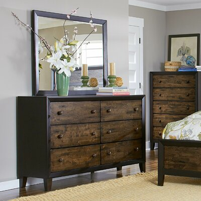 Arcola 6 Drawer Dresser with Mirror by Woodhaven Hill