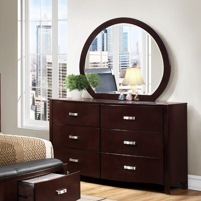 Lyric 6 Drawer Dresser with Mirror by Woodhaven Hill