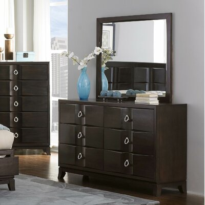 Edmonston 6 Drawer Dresser with Mirror by Woodhaven Hill