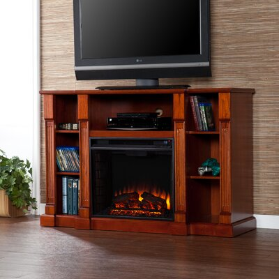 Caswell TV Stand with Electric Fireplace by Woodhaven Hill