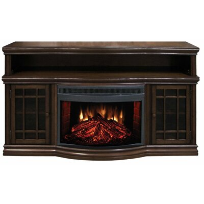TV Stand with Electric Fireplace by Woodhaven Hill