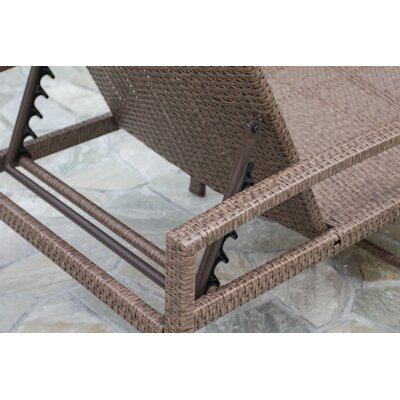 Creative living cedar cove chaise lounge with cushion for Cedar chaise lounge