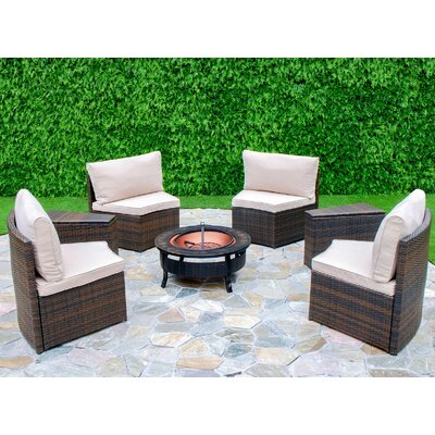 Chapel Hill 6 Piece Curved Seating Group by Creative Living