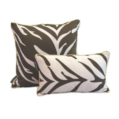 Zebra Decorative Reversible Cotton Pillow by EZ Living Home
