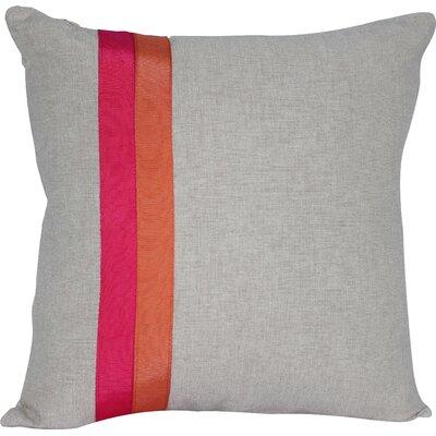 Ribbon Panel Cotton Throw Pillow by Auburn Textile