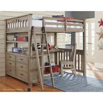 Ne Kids Highlands Full Loft Bed With Desk