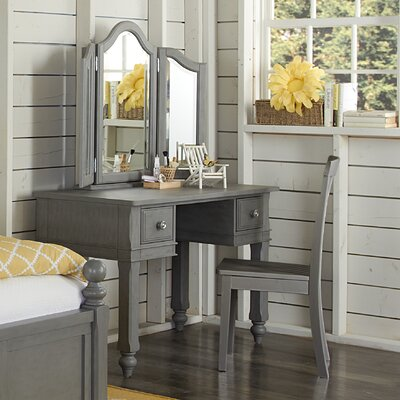 NE Kids Lake House Vanity Set with Mirror with Mirror