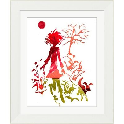 Girl and Dog Silhouette Framed Art by Evive Designs