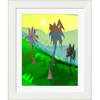 Palm Trees by Holly Mcgee Framed Painting Print by Evive Designs