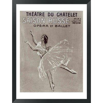 Saison Russe' at the Theatre du Chatelet, 1909 by Valentin aleksandrovich Serov Framed Vintage ...
