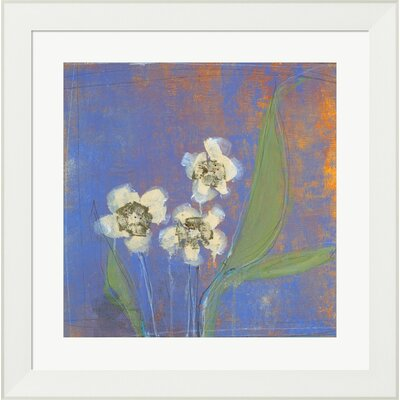 Orchid Study II by Maeve Harris Framed Painting Print by Evive Designs