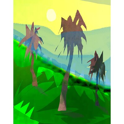 Palm Trees by Holly McGee Painting Print Shadow Mount by Evive Designs