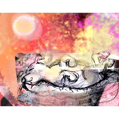 Sleeping Dog by Holly McGee Painting Print Shadow Mount by Evive Designs