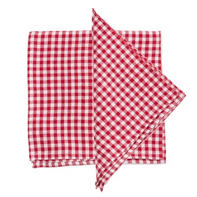 Gingham Linen Napkin by Found Object