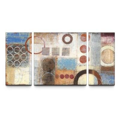 Reflections Textured 3 Piece Painting Print on Canvas Set by Artefx Decor