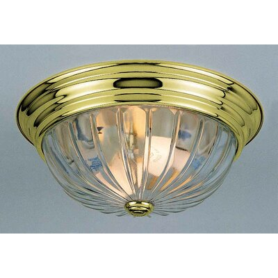 2 Light Ceiling Fixture Flush Mount by Volume Lighting