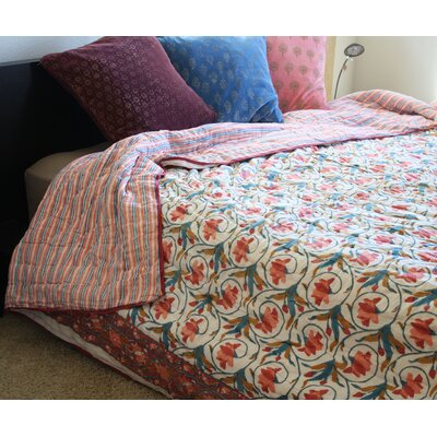 Timbergirl Organic Cotton Block Print Quilt