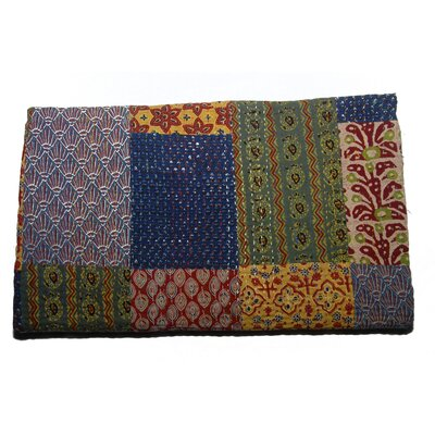 Handmade Block Print Patchwork Cotton Throw by Timbergirl
