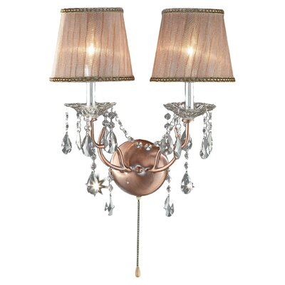 ORE Furniture Rosie Crystal 2 Light Wall Sconce