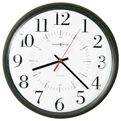 Howard Miller® Alton Auto Daylight Savings Wall Clock, 14in, Black, 1 AA Battery