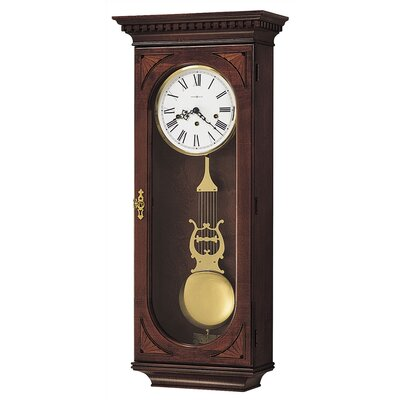 Chiming Key-Wound Lewis Wall Clock by Howard Miller