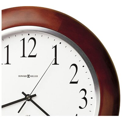 "Howard Miller® Radio Controlled Murrow Adjusted Atomic 13.75"" Wall Clock"