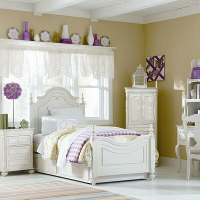LC Kids Charlotte Storage Low Poster Customizable Bedroom Set Bedroom Collection