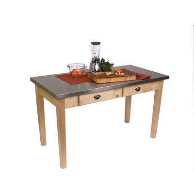 Cucina Americana Prep Table with Stainless Steel Top Product Photo