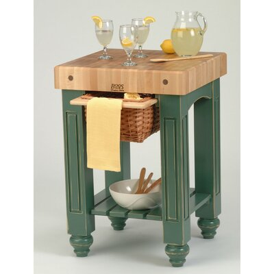 American Heritage Prep Table with Butcher Block Top Product Photo