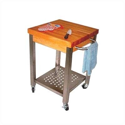 Cucina Americana Kitchen Cart with Butcher Block Top Product Photo