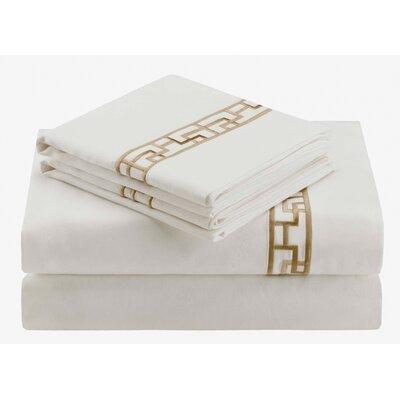 Ming Fretwork 400 Thread Count Flat Sheet by Natori