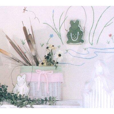 Froggy Pink Wicker Basket by Brandee Danielle