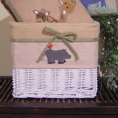 On Safari Wicker Basket by Brandee Danielle