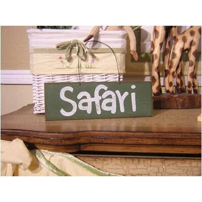 African Plains Safari Sign Hanging Art by Brandee Danielle