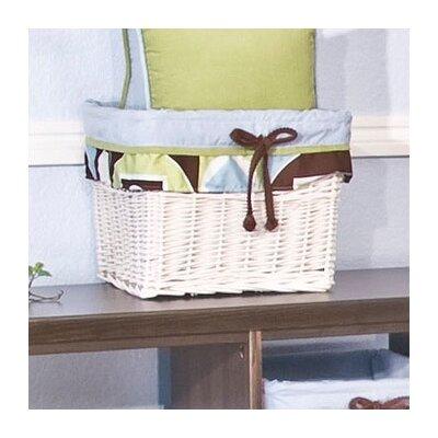 Modern Baby Boy Caffe Wicker Basket by Brandee Danielle