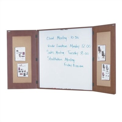 OSP Furniture Napa Presentation Wall Mounted Enclosed Whiteboard, 4' x 4'