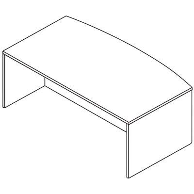 OSP Furniture Kenwood Bow Front Desk Shell
