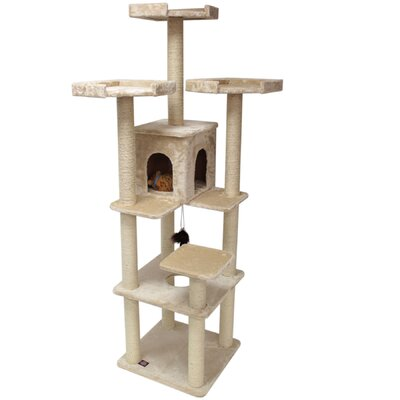 "Majestic Pet Products 80"" H Casita Fur Cat Tree"