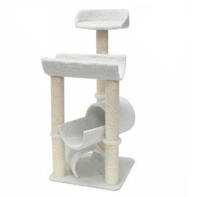 """Majestic Pet Products 44"""" H Bungalow Sherpa Cat Tree"""