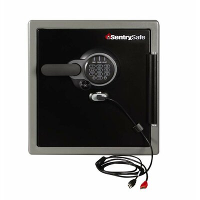 USB Connected Water-Resistant Electronic Lock Security Safe by SentrySafe