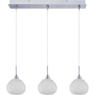 ET2 Snow White 3-Light RapidJack Pendant and Canopy