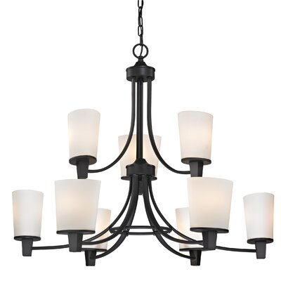 Ellipse II 9 Light Chandelier Product Photo