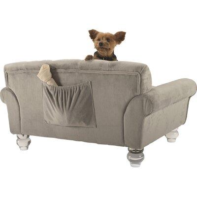La Joie Velvet Tufted Dog Sofa by Enchanted Home Pet