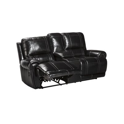 Signature Design by Ashley U7590 Paron Double Reclining Loveseat with Console