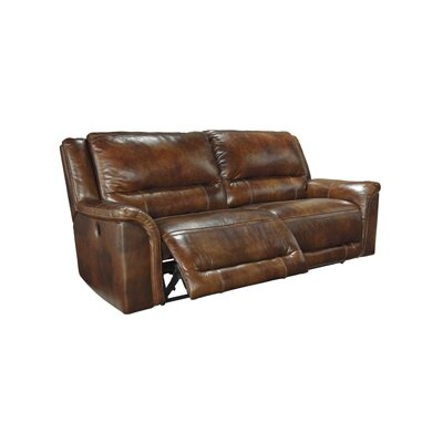 Signature Design by Ashley GNT7537 Jayron 2 Seat Reclining Leather Sofa
