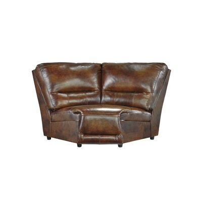 Jayron Wedge Leather Chair by Signature Design by Ashley
