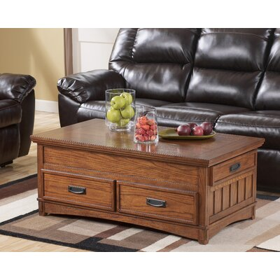 Castle Hill Trunk Coffee Table with Lift Top by Signature Design by Ashley