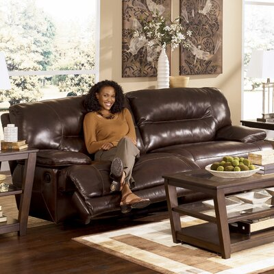 Venice Leather Reclining Sofa by Signature Design by Ashley